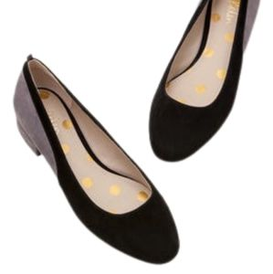 BODEN Cathy Black and Pewter Flats